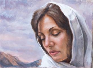 dipinto di giovane donna