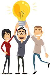 partage d'idée en groupe