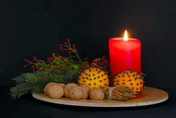 spices with candle