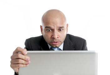 Hispanic businessman in stress working under pressure stressed