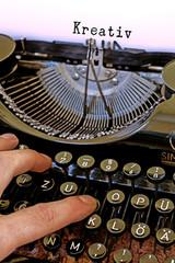 Alte Schreibmaschine, Kreativ Wort