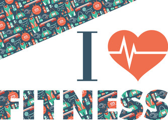 Fitness Icons background. I love fitness.