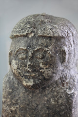 Stone Face idol close to