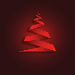 Christmas Background Red Origami