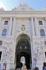 Wien alte Hofburg Eingang, Durchgang zum Ring; Österreich