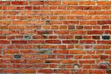 ściana z czerwonej cegły - 71782238