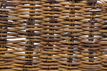 Photo of basket's wooden texture