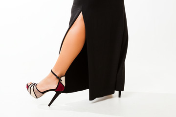 Sexy woman with high heel shoes