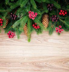 fir tree border