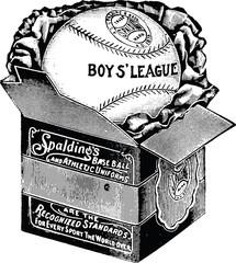 Vintage graphic baseball ball