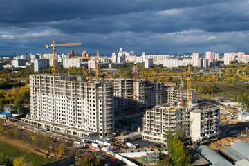 Стройка многоэтажного дома