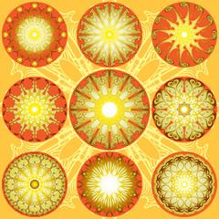 Decorative lace sun