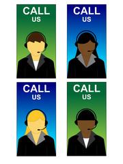 Support center design avatar icons