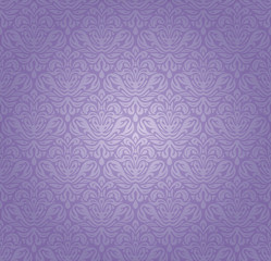 Violet vintage seamless pattern background design