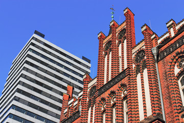 Architektur-Kontraste