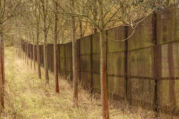 Metallzaun der ehemaligen DDR-Grenze