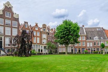 Old patio Begijnhof in Amsterdam, The Netherlands