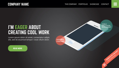 Website template/landing page