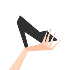 Elegant women high heel shoe vector isolated