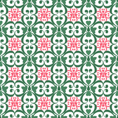 Oriental seamless pattern damask arabesque and floral elements t