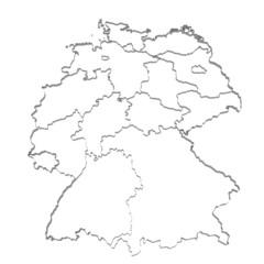 Deutschland Umrandung