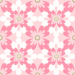 Seamless pattern flowers elements texture background