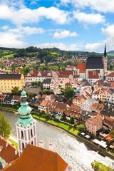 View on the Old Town Cesky Krumlov