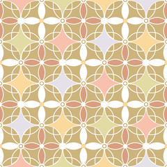 Retro colors seamless pattern beige background