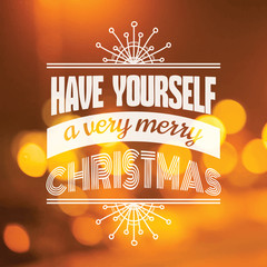 Christmas Calligraphic Card - for invitation, congratulation