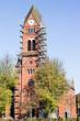 canvas print picture - Glockenturm wird renoviert