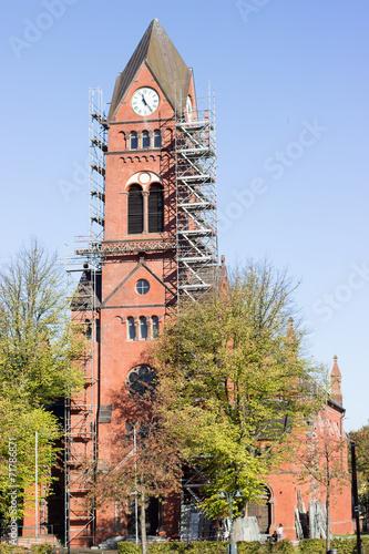 canvas print picture Glockenturm wird renoviert