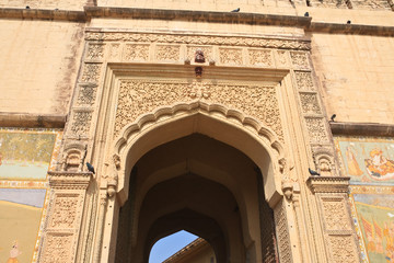 India, Jodhpur fort entrance Merangarh