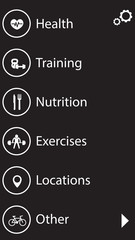 fitness, health and training app interface icons set 2