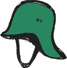 doodle old German helmet