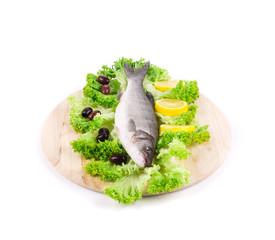 Fresh fish on the cutting board