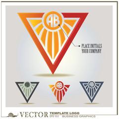 vector logo design template  sun style
