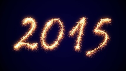 4K VID - Sparklers Firework 2015