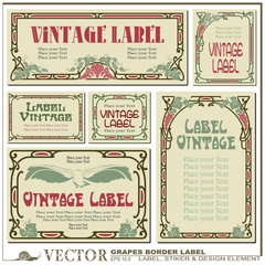 Border style labels on different versions based on grapes