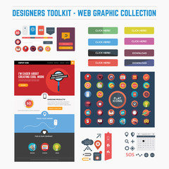 Designers toolkit - fat web graphics including web template