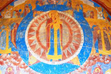 Religious painting in Saint Nicolas Church, Yaroslavl, Russia.