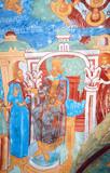 Religious painting in Saint Nicolas Church, Yaroslavl, Russia. poster