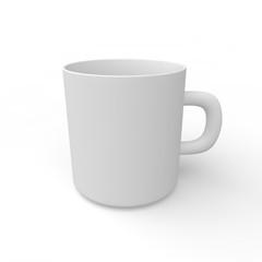 White empty mug