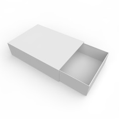 Blank white box of matches