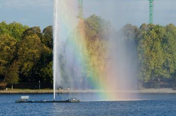 Fontänen-Regenbogen