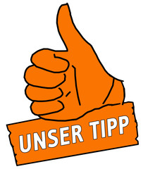 tus5 ThumbUpSign Daumen hoch - Unser Tipp - orange g2105