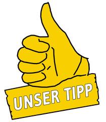 tus6 ThumbUpSign Daumen hoch - Unser Tipp - gelb g2106