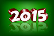 New 2015 Year greeting card, vector