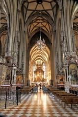 Stephans Dom, Stefans Kirche Wien, innen mit Chor, Orchester