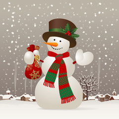 Christmas & New-Year's snowman