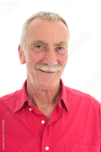 canvas print picture Retired man